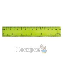 Линейка пластиковая цветная 15 см