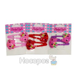 Заколка лапка 00327 BS-80-2*5 Hello Kitty 2 шт.