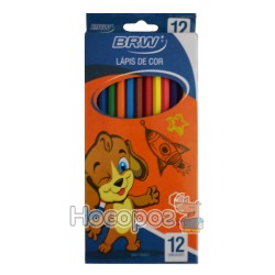 Карандаши цветные BRW 4004 12 цв.