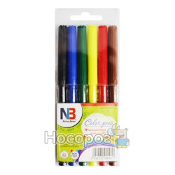Фломастеры Nota Bene 6 цветов