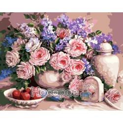 Картина по номерам Чайная роза AS0006