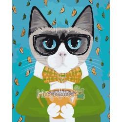 Картина по номерам Деловой кот AS0065