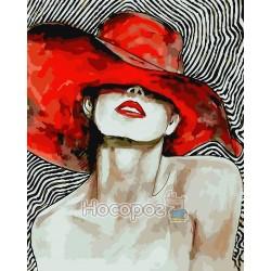 Картина по номерам Яркая женщина AS0082