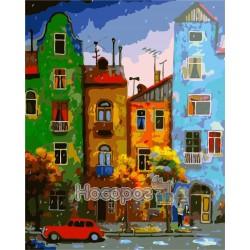 Картина по номерам Цветная улица AS0140