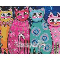 Картина по номерам Яркие коты AS0165