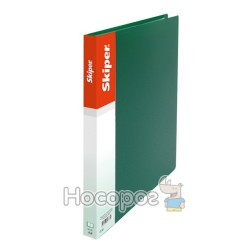 Папка усы А5 Skiper SK-12 зеленая 411042
