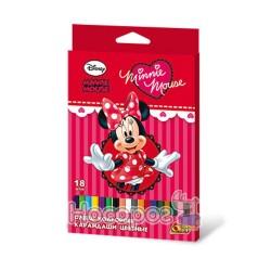 Карандаши цветные 18 цв. OLLI Minni Mouse, шестигранные