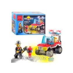 Конструктор BRICK 901 Пожарная тревога машинка
