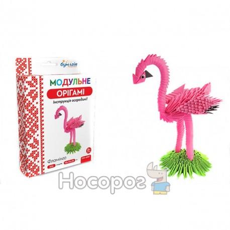 """Фото Модульное оригами 406 модулей """"Фламинго"""" ОМ-6087"""