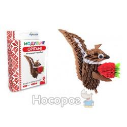 """Модульное оригами 532 модуля """"Белка с клубникой"""" ОМ-6060"""