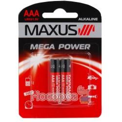 Батарейки MAXUS LR03 / 1.5V AAA-С2 минипальчик