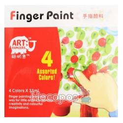 Фарба пальчикова 4 кольори RFC0435