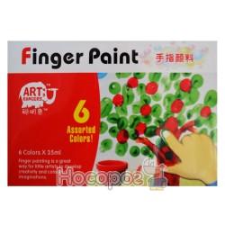 Фарба пальчикова 6 кольорів RFC0635