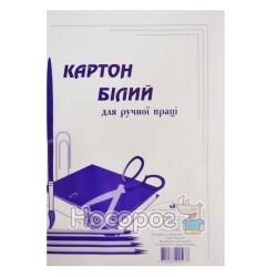 Картон белый ВинОблДрук 1-сторонний А4, 7 л.