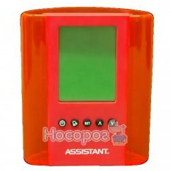 Подставка-часы для ручек ASSISTANT AH-1050 red