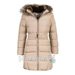 Пальто с капюшоном с мехом 9581