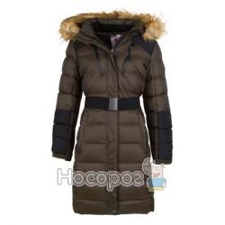 Пальто демісезонне з капюшоном з хутром 9890