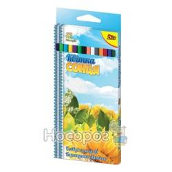 Карандаши цветные OLLI OL104-12 Родная страна/Цветок солнца 12 цв.