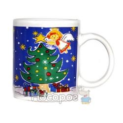 Чашка с новогодним рисунком, в подарочной коробке 7102-2