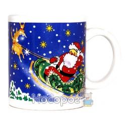 Чашка з новорічним малюнком, в подарунковій коробці 7102-3