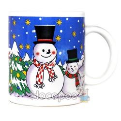 Чашка с новогодним рисунком, в подарочной коробке 7102-4