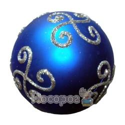 Куля матова з рельєфним орнаментом блакитна HWGMB-NE8001B