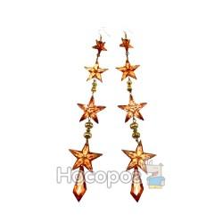 Набір з 2-х акрилових підвісок-зірочок,червоних XJ27-668-13-3