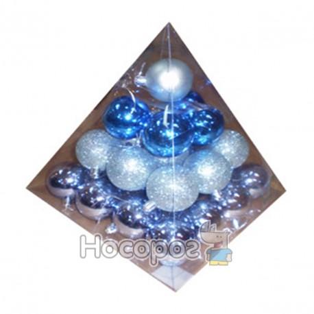 Фото GBPMB-4030В Набір з 30-ти куль, блискучих, матових, d4см, сині, голубі, темно-голубі (шт.)
