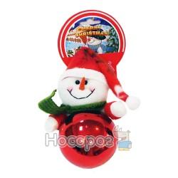 Підвіска куля+м'яка іграшка сніговик, червона GD8C089B