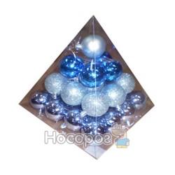 Набор из 30-ти блестящих и матовых шаров GBPMB-5030В