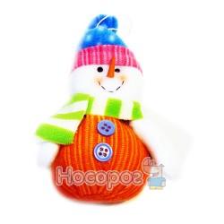 Подвеска-снеговик из ткани 271143A-B