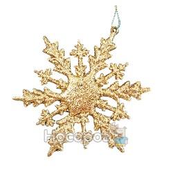 """Підвіска """"Сніжинка"""", набір з 2-х шт, колір:золотий HZ36-09121550G/4"""
