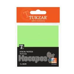 Папір для заміток з липким шаром TZ-10658 (76*76мм, 100 арк., зелений) (12/240)