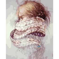 Картина по номерам Девушка-зима AS0196