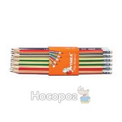 Олівці прості Умка ГК 42 НВ з гумкою (01131070)