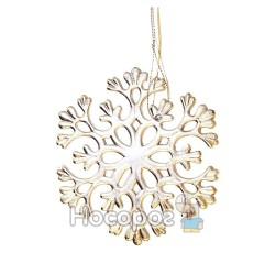 Підвіска -сніжинка, d11см, колір: срібний, в п/п на європідвісі, виріб для новорiчних та рiздвяних