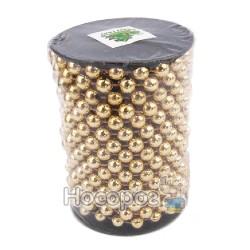 Бусы пластиковые AR1 / 33-10R-G на бобине, золотые