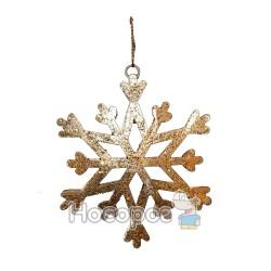"""Підвіска """"Сніжинка"""", d10cм, колір: золотий, в п/п на європідвісі"""