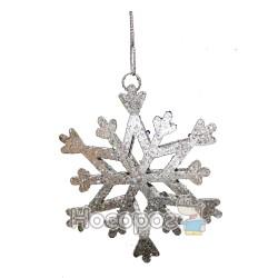 """Підвіска """"Сніжинка"""", d10cм, колір: срібний, в п/п на європідвісі"""