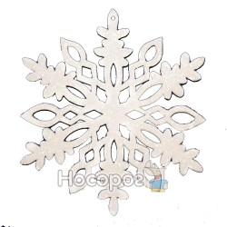 """Підвіска """"Сніжинка"""", d17,7см, колір: білий з глітерною посипкою, в п/п на європідвісі, виріб для но"""