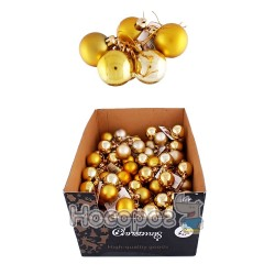 Набор N1-4004AB-G с 6-ти шаров матовых и блестящих, золотые