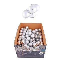 Набор N1-4004AB-S с 6-ти шаров матовых и блестящих, серебряные