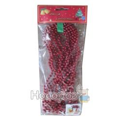 Буси пластикові, d5мм, L 5м, колір: червоний, в п/п на європідвісі, виріб для новорiчних та рiздвя