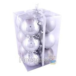 Набор из 12-ти матовых и блестящих шаров N3-8012AB-S