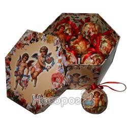 Новорічний кулька з ангелом XJ09-DP6000400