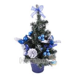 Ялинка засніжена з синіми прикрасами A68-B20038/16R