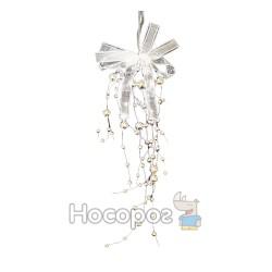 Підвіска з бус, колір срібний HX12015S