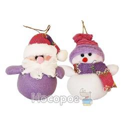 """Подвеска """"Снеговик"""", """"Дед Мороз"""" 143-121001A, 2C"""