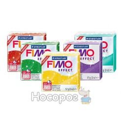 Пластика Fimo Effect зеленая с блестками