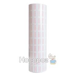 Ценник этикетпистолета белый с красными линиями на 600 этикеток